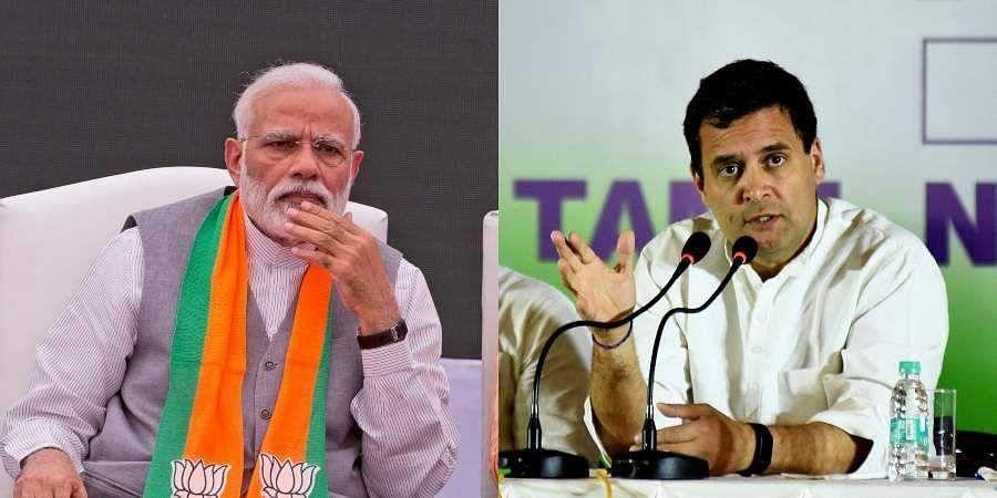 PM Narendra Modi (L) and Congress chief Rahul Gandhi (Photo | AP and EPS)