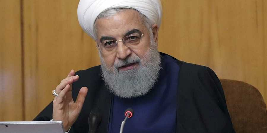 Iran president Hassan Rouhani speaks in a cabinet meeting in Tehran
