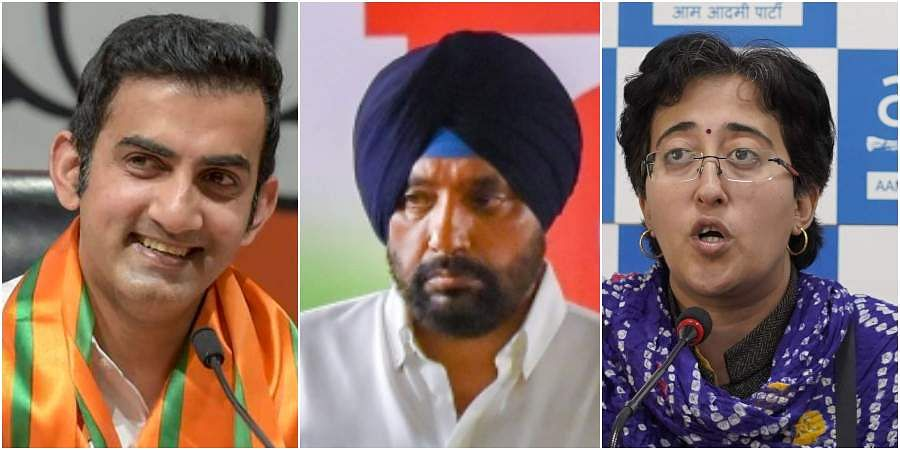 CHANDINI CHOWK: BJP candidate Gautam Gambhir made a victorious political debut  in East Delhi by securing 6,95,109 votes and defeated  nearest rival Arvinder Singh Lovely of Congress, who  got 3,04,718 votes. AAP's Atishi came third with 2,19,156 votes. (Photos | PTI , EPS)