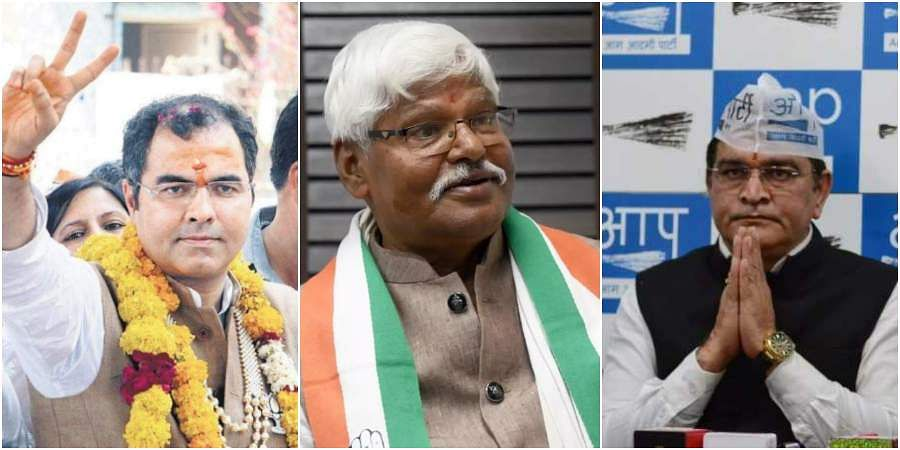 WEST DELHI: BJP candidate Paresh Verma retained his West Delhi seat by getting the highest number votes in Delhi, 862058 votes. Congress' candidate Mahabal Mishra got 286745 votes and AAP candidate Balbir Singh Jhakar got 251504 votes. (Photos | EPS, PTI)