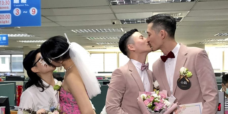 Taiwan holds first same-sex marriages in historic day for Asia. (Photo | AP)