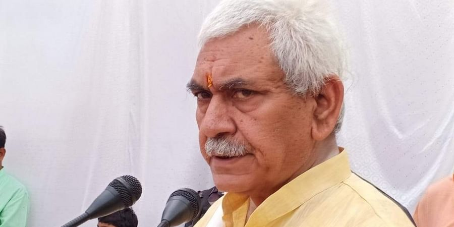 BJP's Ghazipur candidate and former Union Minister Manoj Sinha (Photo | Facebook)