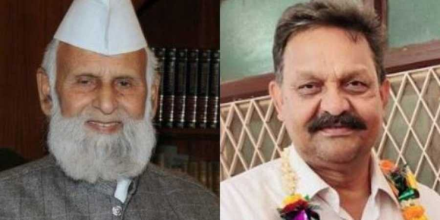 Sambhal MP Shafiqur-Rehman Warq(L) and Ghazipur MP Afzal Ansari