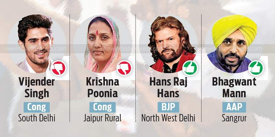Riding on their celebrity power, several film and TV celebrities won seats to the 17th Lok Sabha. However, some new star entrants like Prakash Raj and Urmila Matondkar suffered big defeats as well.