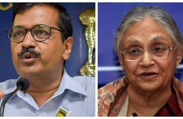 Delhi CM Arvind Kejriwal (L) and Delhi Congress chief Sheila Dikshit(R). (File | Agencies)