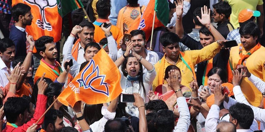 BJP supporters, BJP celebrations, Lok Sabha Election result