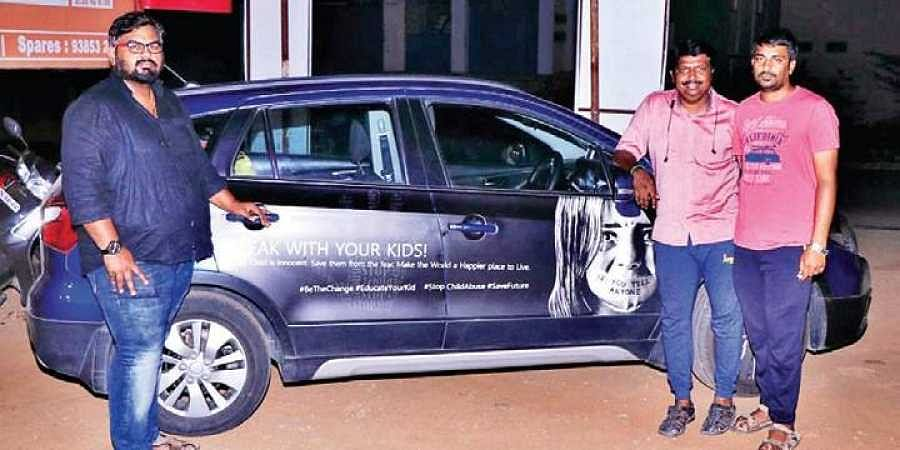 Three men on 7,000-km journey to spread awareness on child abuse