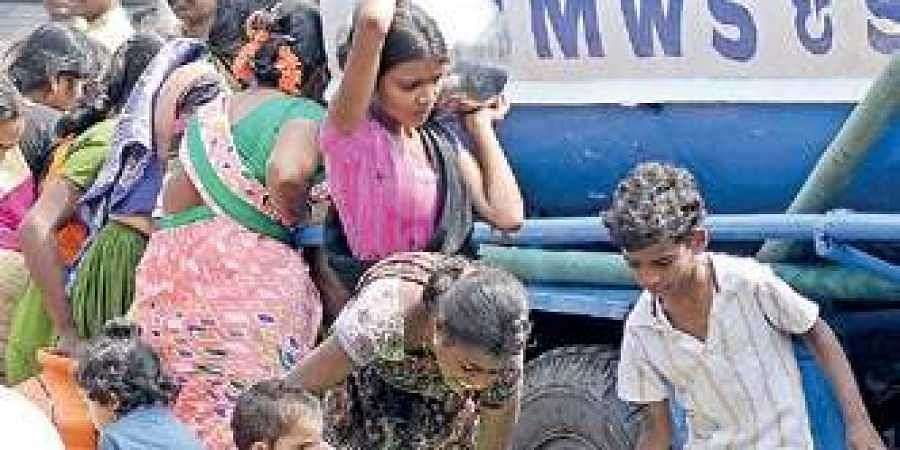 Over 17,000 water tanker bookings pending in Hyderabad- The New