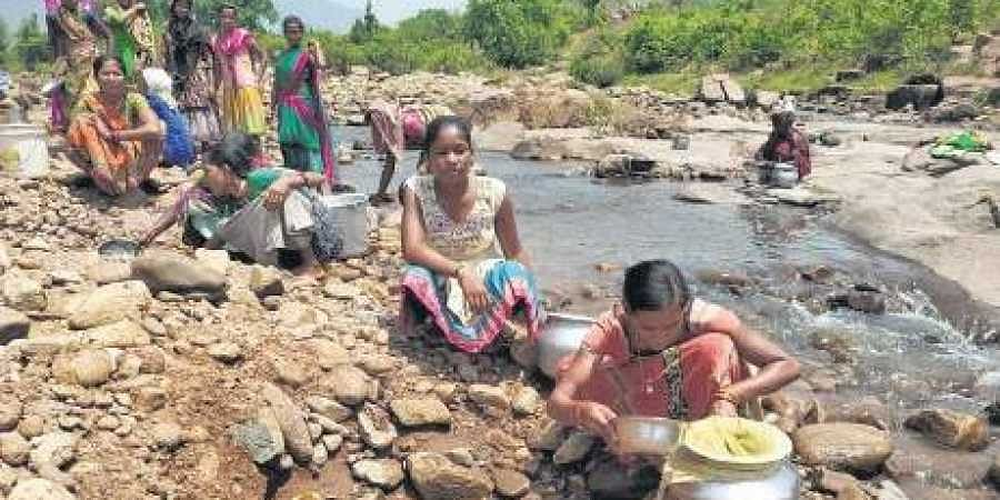 A nullah, only water source for Baladia village in Odisha- The New