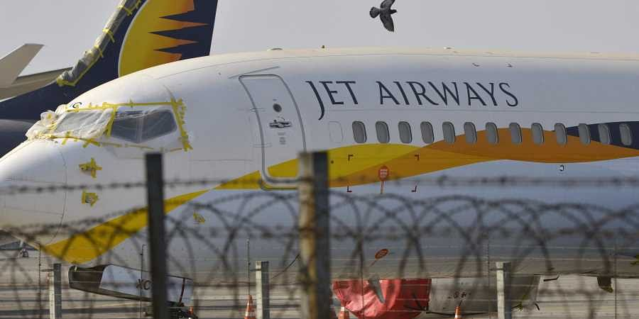 Jet Airways aircraft are seen parked on the tarmac at Chattrapati Shivaji International Airport in Mumbai