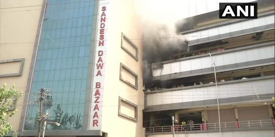 Fire broke out in Sandesh Dawa Bazaar of Nagpur due to short circuit in a medical shop