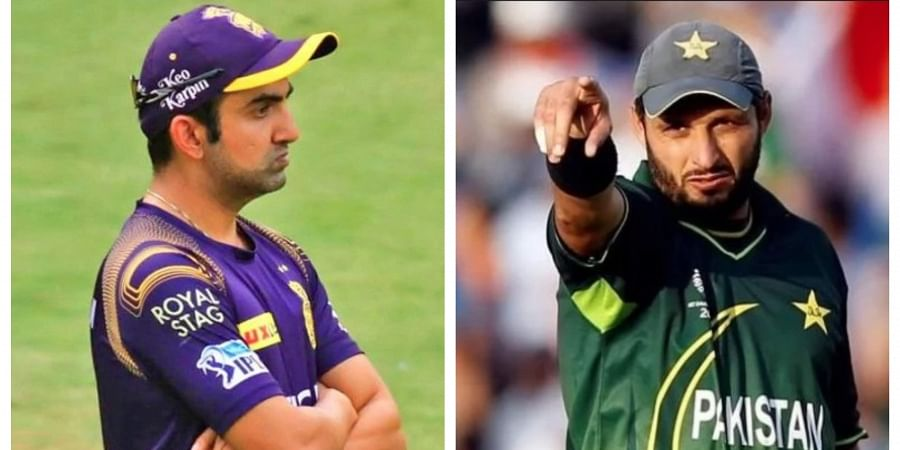 Shahid Afridi returns fire on Gautam Gambhir for his hospital jab