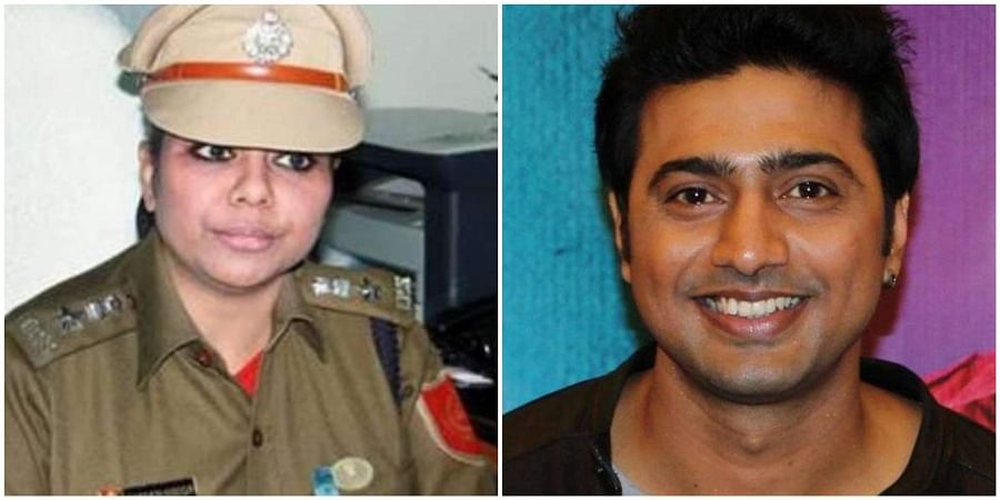 (L-R): Former police officer and BJP candidate Bharati Ghosh and actor and TMC candidate Deepak Adhikary are pitted against each other in West Bengal's Ghatal. (Photos | Facebook)