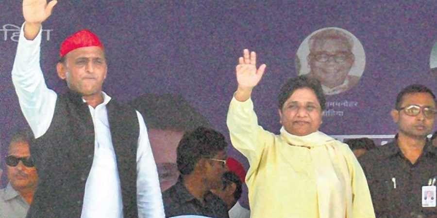 BSP supremo Mayawati and SP president Akhilesh Yadav