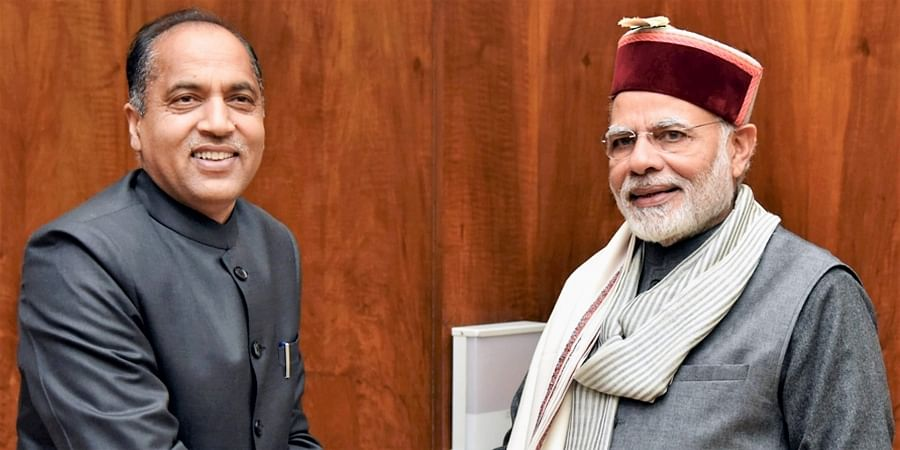 Himachal Pradesh CMJai Ram Thakur with PM Narendra Modi