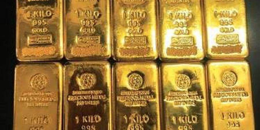 Gold seized from Sri Krishna Jewellers by the DRI, in Hyderabad on Tuesday