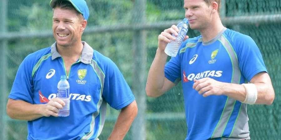 Australian cricketer David Warner (L) and Steven Smith. (File | AFP)