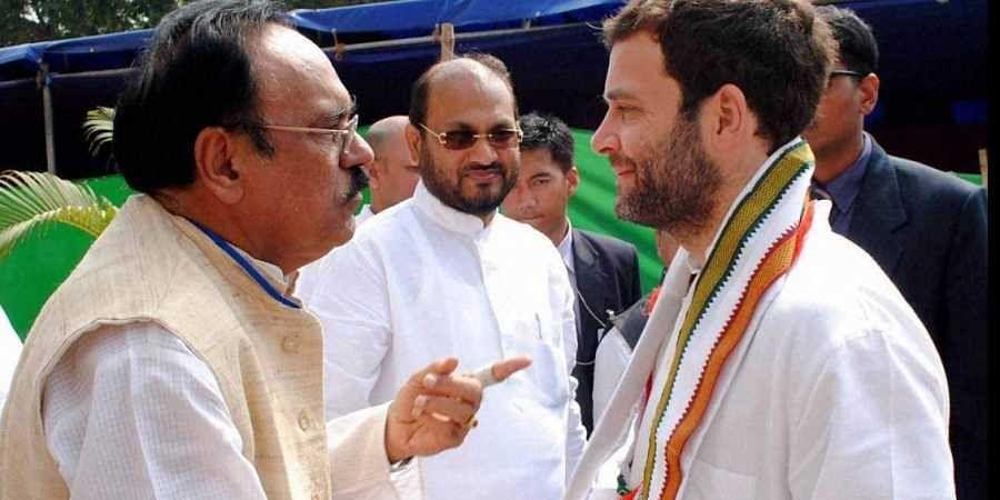 Congress chief Rahul Gandhi with Odisha Congress leader Bhupinder Singh