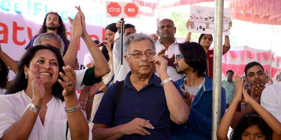 Girish Karnad, protest