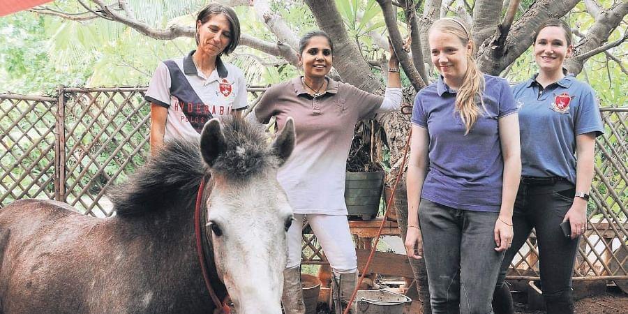 Horse women of Hyderabad