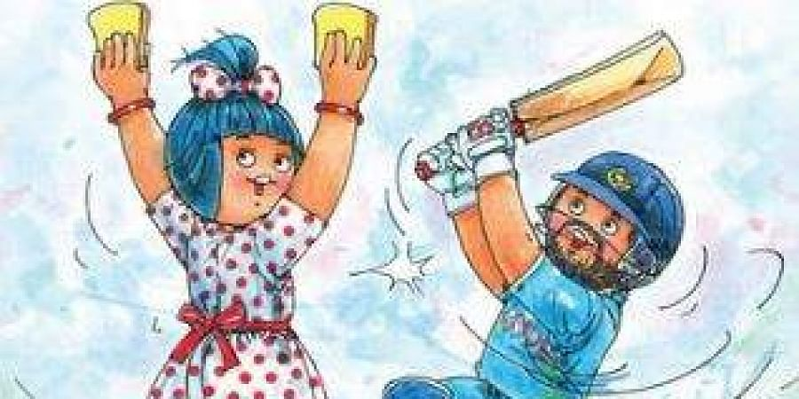 Amul, a famous Indian dairy brand, known for its creative and witty take on different trending topics, also joined the fans and dedicated a special cartoon to Yuvraj. (Photo | Twitter)