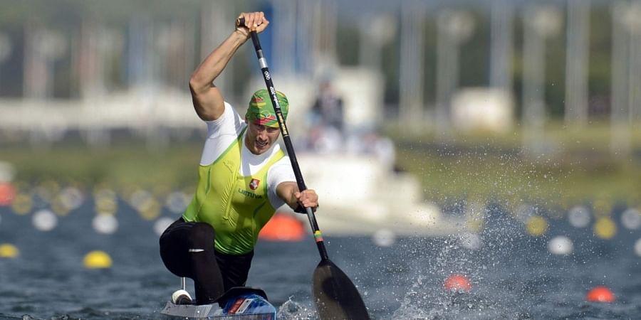 Lithuania's Jevgenij Shuklin competes in the men's canoe single 200-meter final at the 2012 Summer Olympics, in Eton Dorney, near Windsor, England. (File | AP)