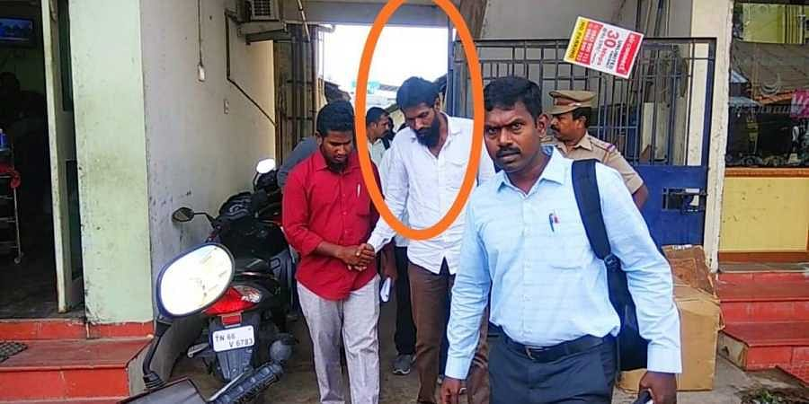 Four persons were arrested in a raid on a suspected IS module in Coimbatore, Tamil Nadu on 12 June 2019. (Photo   ANI Twitter)