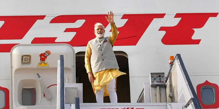 Indian PM Narendra Modi reaches Bishkek for the SCO summit.