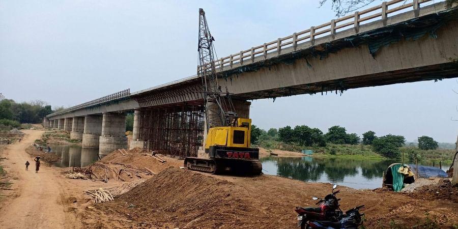 File photo of construction of a bridge in Odisha's Mayurbhanj district.