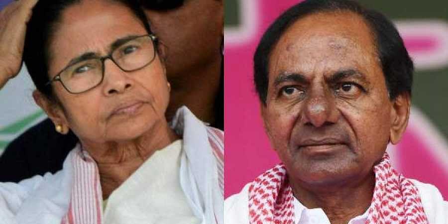 TMC supremo and West Bengal CM Mamata Banerjee and K Chandrasekhar Rao