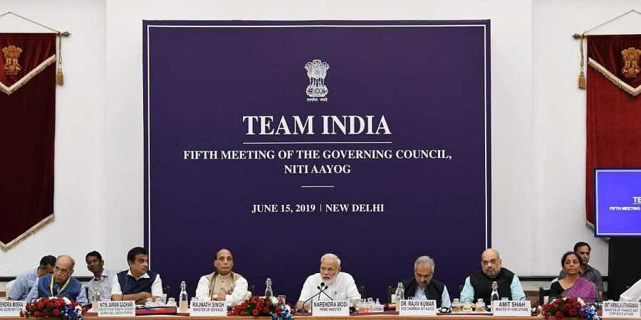 PM Modi addresses the fifth meeting of NITI Aayog's Governing Council