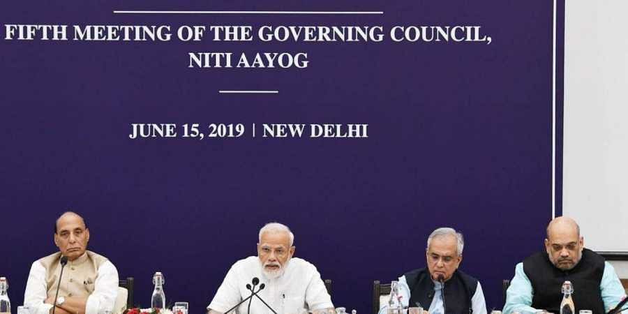PM Modi chairs the fifth NITIAayog Governing Council meeting