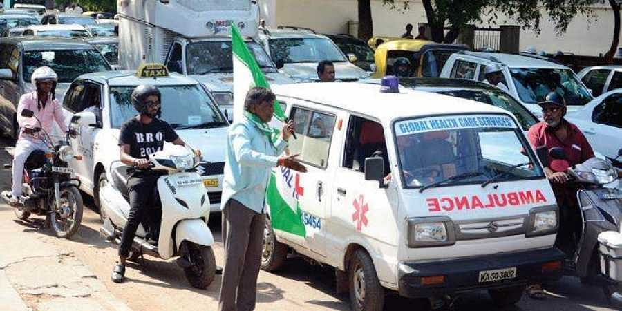 As many as 14 of the 33 ambulances in Mahbubnagar district continue to remain off the roads due to pending fuel bills.
