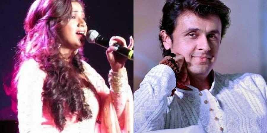 Singers Shreya Ghoshal(L) and Sonu Nigam