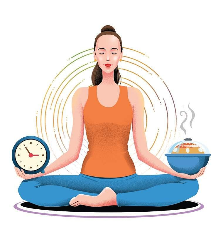 Yoga and a balanced diet are the key to good health.