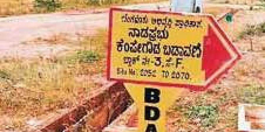 A Bangalore Development Authority signboard. Image used for representational purpose.