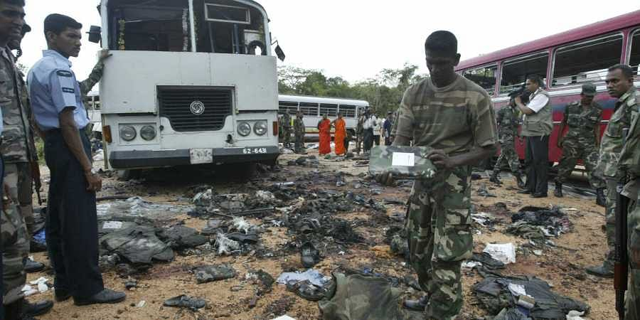 File photo of Sri Lanka terror attacks