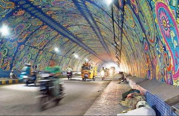 Destitutes sleeping at Chitti Nagar tunnel in Vijayawada. Image used for representational purposes.  (Photo | P Ravindra Babu, EPS)