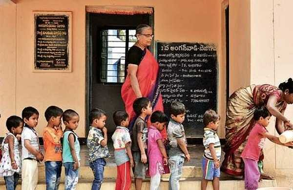 Insects found in food grains for Anganwadi children