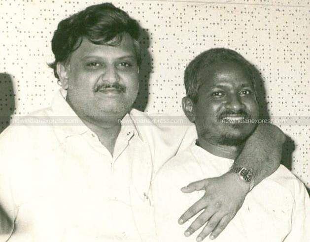 Playback singer SP Balasubramaniam with  music director Ilayaraaja.