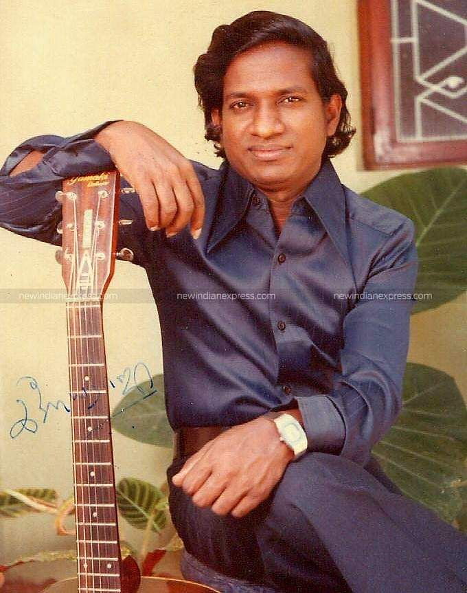 Music composer Ilayaraaja during his youmger days.