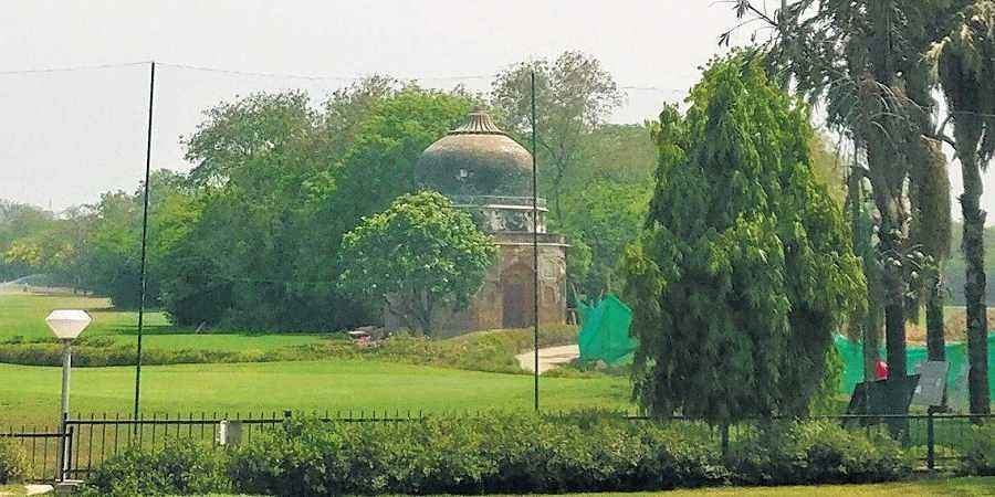An unknown tomb in Delhi Golf Club, which is among the heritage buildings to be preserved