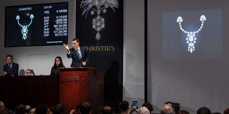 The auction sold the collection of Indian jewels and jewelled objects for USD 109.3 million