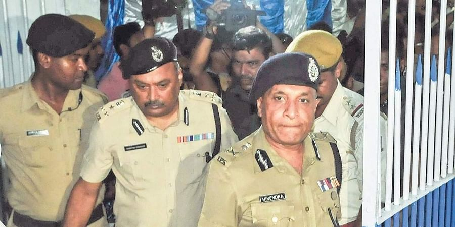 West Bengal DGP Virendra was gheraoed by BJP supporters when he visited Barrackpore on Friday.