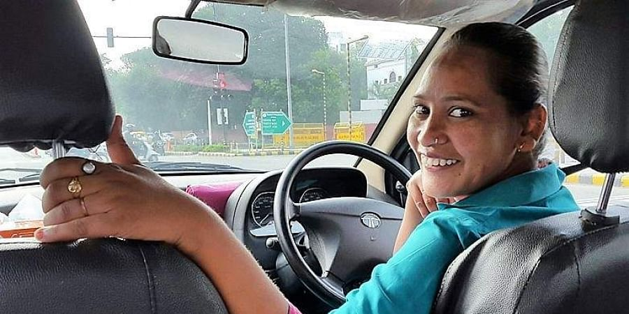 Lalita, who has worked as a chauffeur and now trains women to drive professionally, learnt to stand on her feet after acquiring a permanent driving license at 18.