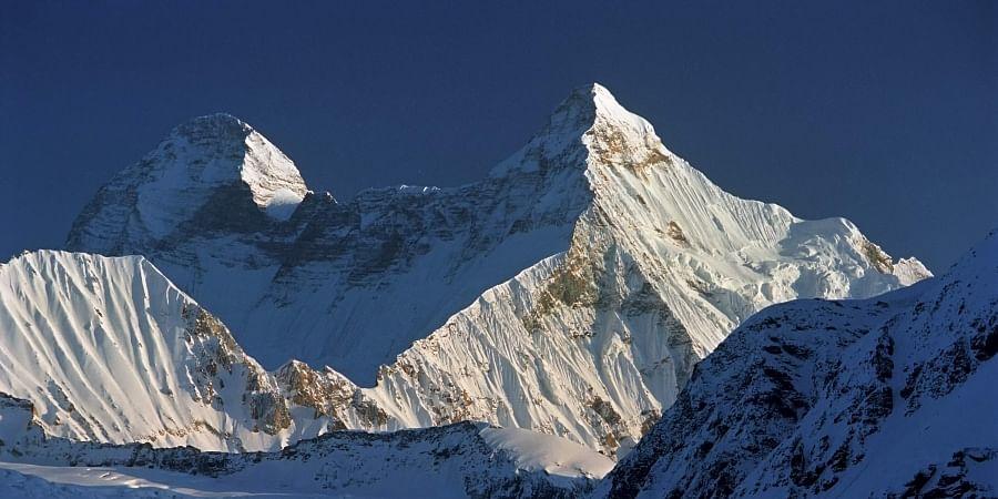 Image of the Nanda Devi and Nanda Devi East twin peak used for representational purpose.
