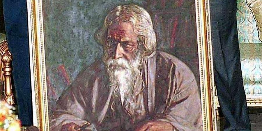 A portrait of Rabindranath Tagore