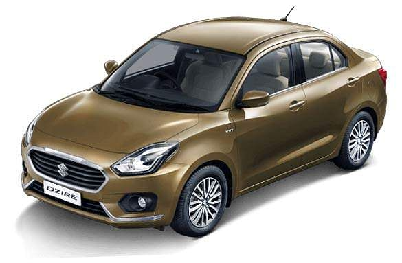MSI's compact sedan Dzire sold 16,196 units last month, occupying third position, down from the top spot in the same month last year when it clocked 24,365 units.  (Photo | Official website)
