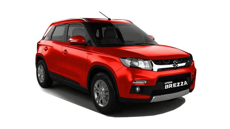 Maruti Suzuki's compact Vitara Brezza bags the tenth place with sales of 8,781 units. Vitara Brezza was the sixth best selling model in May last year with 15,629 units.  (Photo | Official website)