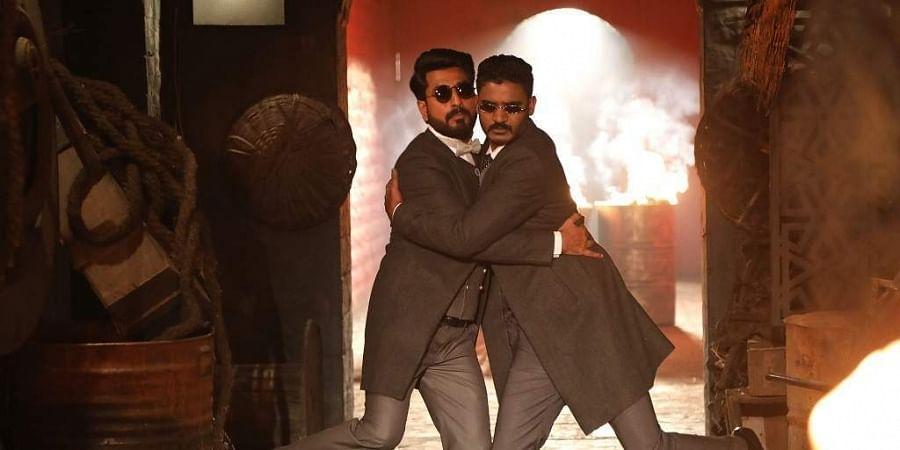 Director Manju Mandavya and actor Chikkanna